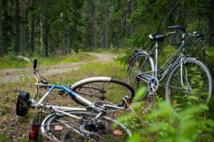 zwei Fahrräder am Wegesrand
