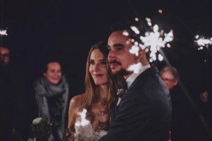 Hochzeit mit Wunderkerzen