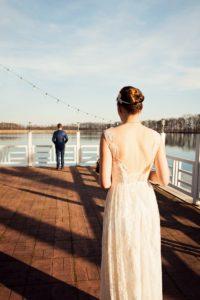 Hochzeit First Look Bokel Mühle am See