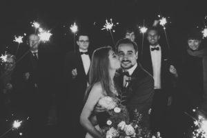 Hochzeit mit Wunderkerzen im Seehotel Töpferhaus