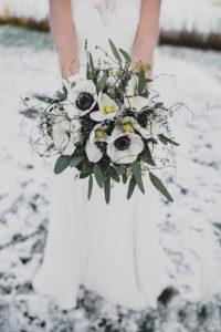 Brautstrauss zur Winterhochzeit im Seehotel Töferhaus Alt Duvenstedt