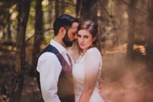 After Wedding Fotoshoot mit Rauchfackeln