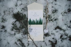 Papeterie Winterhochzeit Einladungskarten