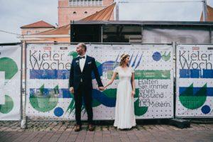 Brautpaar in Kiel auf der Kieler Woche